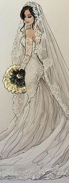Bridal Fashion Illustration