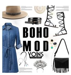 """""""YOINS   Denim Dress"""" by m-olla ❤ liked on Polyvore featuring rag & bone, women's clothing, women's fashion, women, female, woman, misses, juniors and yoins"""
