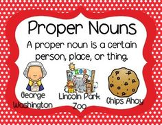 This freebie can be used with the Grammar Anchor Charts found here: Grammar Anchor Charts  And just for fun, there are two proper noun worksheets!