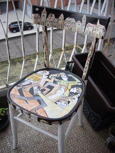 illustrated chair - giuseppe vitale