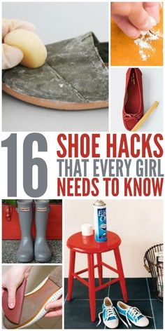 These 9 shoe hacks are THE BEST! I'm so glad I found these AWESOME tips! Now I have some awesome ideas on how to revamp and save my shoes! Definitely pinning for later!:
