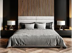 Inspiration for stylish black bedroom decor schemes: All black bedrooms, monochrome and wood decor, red and black bedrooms, black bedroom furniture and bed sets