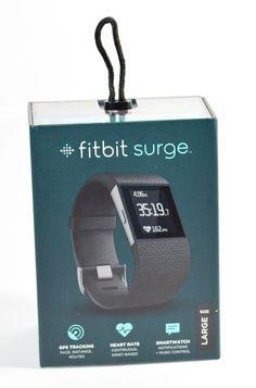 Fitbit Surge GPS Smart Watch Heart Rate Monitor FB501BKL Large Black NIB  #Fitbit