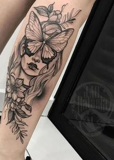 Butterflies tattoos are one of the most tattooed between people, symbolizing: delicacy, Arm Tattoos For Women Upper, Arm Tattoos For Women Forearm, Lower Arm Tattoos, Simple Arm Tattoos, Inner Forearm Tattoo, Tattoos For Women Half Sleeve, Knee Tattoo, Best Sleeve Tattoos, Tattoos For Guys