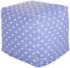 Majestic Home Goods Lavender Polka Dots Small Cube -- Detailed information can be found by clicking on the VISIT button