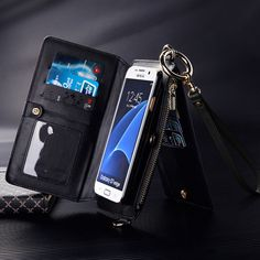 Separable Functional PU Wallet Case Cover With Shoulder Strap For Samsung Galaxy Edge Sale - Banggood Mobile Leather Case, Leather Wallet, Pu Leather, Iphone 5s, Iphone Cases, Samsung Accessories, Womens Purses, Iphone Models, Samsung Cases