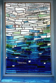 Stained Glass or Modern?  With this modern stained glass window design, I can have both!  Thinking of talking to a friend about stained glass custom orders.
