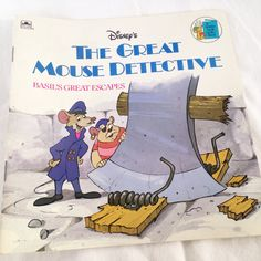 """Disney's The Great Mouse Detective """"Basil's Great Escape"""" - Vintage Kids  Golden Book 1986 by RetroVintageHeart on Etsy"""