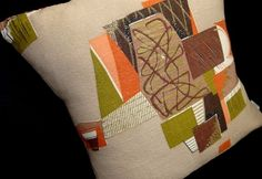 Mid Century Modern  Vintage Barkcloth Pillow by atomiclivinhome, $78.00