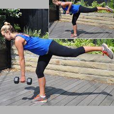 This exercise works so many parts of your body. Get stronger with the single-leg deadlift row!