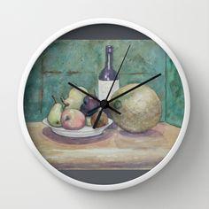 Cantaloupe Still Life WC150919a Wall Clock