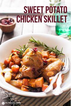Clean Eating Sweet Potato Chicken Skillet Recipe plus 49 more gluten-free main dish recipes