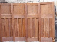 RECLAIMED ORIGINAL VICTORIAN -1930'S 4 STRIPPED PINE INTERIOR PANNELLED DOORS