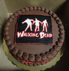 Meghans Zombie Birthday Cake My Cakes Pinterest Zombie