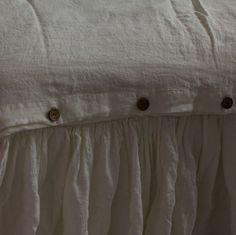 Linen BED SKIRT Dust Ruffle Full size Antique by LenokLINENcom