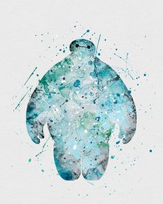 Baymax Big Hero 6 Watercolor Art - VIVIDEDITIONS