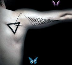 Top 87 Triangle Tattoo Ideas [2020 Inspiration Guide] Top 87 Triangle Tattoo Ideas [2020 Inspiration Guide]<br> A triangle tattoo motif has a range of symbolic meanings. If you're looking for a symbolic ink idea with versatility check out these 87 designs to help you! Back Of Arm Tattoo, Arm Tattoos For Guys, Tattoos For Women, Unique Tattoos, Small Tattoos, Cool Tattoos, Arm Sleeve Tattoos, Forearm Tattoos, Tattoo Sleeves