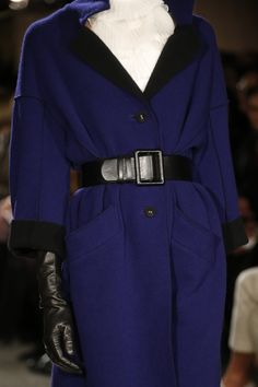 Oscar de la Renta dark blue and black coat, AW 2015-16