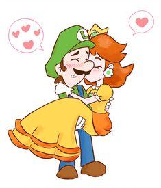 Brave Shy Hero by vakurii on DeviantArt Mario Princess Daisy, Nintendo Princess, Princesa Daisy, Princesa Peach, Mario Bros., Mario And Luigi, Yoshi, Luigi And Daisy, Mario Comics
