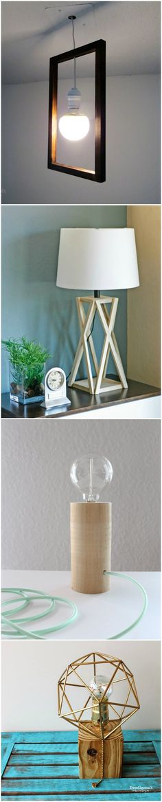Wood lamps are classic and modern at the same time! Learn how to make a wood lamp that fits perfectly with your decor using one of these 20 ideas. via @diy_candy