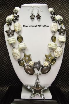 COWGIRL NECKLACE SET / Western Style by CayaCowgirlCreations