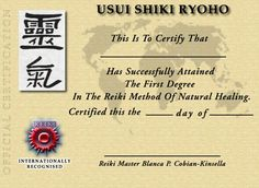 My reiki master certificate reiki pinterest reflexology reiki certification yelopaper Image collections
