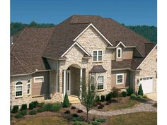 Eplans New American House Plan - Shown Elegance - 3480 Square Feet and 4 Bedrooms(s) from Eplans - House Plan Code HWEPL02343