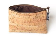 Real Cork Mini-Zip-Tasche mit Reißverschluss von SpicerBags auf Etsy