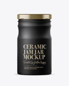 Matte Ceramic Jam Jar Mockup