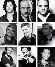 Jared Padalecki, Jim Beaver, Mark Sheppard, Jeffrey Dean Morgan, Jensen Ackles, Mark Pellegrino, Sebastian Roche, Richard Speight Jr., and Misha Collins. // perfect cast is perfect