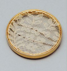 Caen lace rose gold brooch made by Joanna Campbell