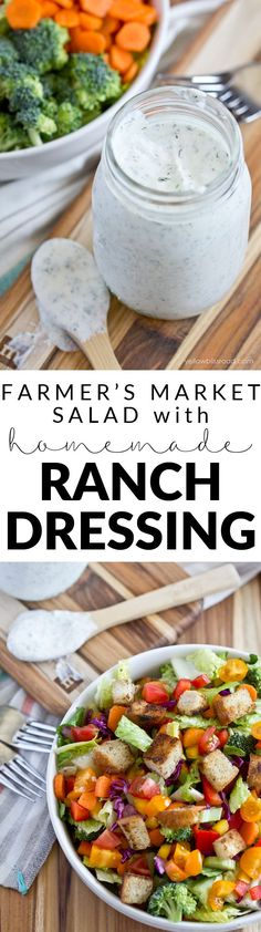 Farmer's Market Chopped Salad with Homemade Ranch Dressing