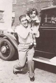 Moe with his daughter, Joan. Moe is one of the Three Stooges.