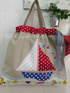 BOLSA DE GUARDERÍA PARA ORIOL by el.gallinero, via Flickr