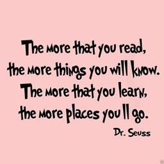 The More That You Read Wall Decal Dr. Seuss Quotes for Kids VWAQ-491
