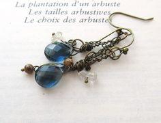 Reflets d'Azurs : des boucles d'oreille romantiques avec topaze bleue…