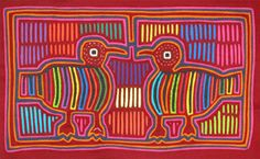 Mola made by the Kuni Women of San Blas Islands, Panama