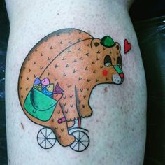 Bear tattoo - priitattoo