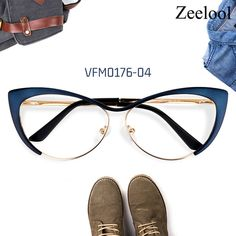 At Zeelool, we provide high quality eyeglass frames at affordable prices. With classic cateye design, these stylish glasses are made from high quality durable materials. Funky Glasses, Cool Glasses, Girls With Glasses, Glasses Frames, Fashion Eye Glasses, Cat Eye Glasses, Lunette Style, Eyeglasses For Women, Eyewear