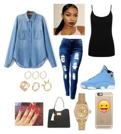 """""""A day out"""" by ishellmire on Polyvore featuring M&Co, NIKE, Casetify and Rolex"""