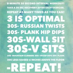 8 minute workout from the #blogpost on www.sunkissedflower.com! Also a link to a FREE 30 second interval workout playlist! Check it out