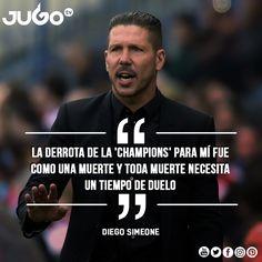 El 'Cholo' Simeone se debe sacar la espinita de haber perdido la UEFA Champions League. Con el equipo que tiene debe ir por todo. #somosJUGOtv