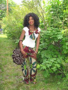 African Print Pants. $70.00, via Etsy.