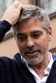 George Clooney( it's not much of a beard but it's a beard)