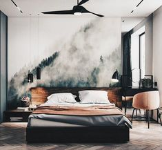 100 Perfectly Minimal & Stylish Bedrooms For Your Inspiration You know we love interior design on UltraLinx, so much so we post interiors inspiration every single week. Loft Interior, Modern Interior Design, Interior Design Living Room, Beautiful Bedroom Designs, Beautiful Bedrooms, Stylish Bedroom, Modern Bedroom, Minimal Bedroom Design, House Of Pain