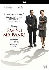 DVD - Two-time Academy Award winner Emma Thompson and fellow double Oscar winner Tom Hanks star in Disney's SAVING MR. BANKS, inspired by the extraordinary untold tale of how one of the most beloved stories of all time, Mary Poppins, was brought to the big screen.   The film is  poignant, sharply funny and moving.