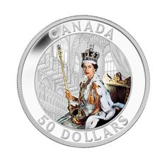 5 oz Fine Silver Coin - Queen's Coronation - Mintage: 1500 Canadian Things, Canadian History, Old Money, Silver Bullion, World Coins, Sell Gold, Rare Coins, Coin Collecting, Queen