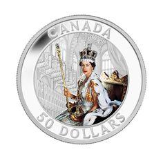5 oz Fine Silver Coin - Queen's Coronation - Mintage: 1500 (2013)