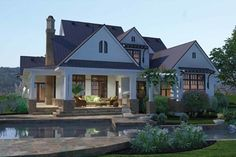 Hate The Floor Plan But Love Elegant Farmhouse Style Corner Lot Country Traditional House Plans Home Designs
