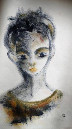 Art original art contemporain portrait enfant huile sur